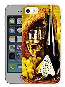 """Humor Gang Wine And Dine Printed Designer Mobile Back Cover For """"Apple Iphone 5-5S"""" (3D, Matte, Premium Quality Snap On Case)"""