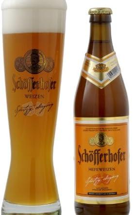 【乾杯セット】シェッファー ホッファー ヘフェ・ヴァイツェン 500ml ボトル 6本+専用グラス2個セット