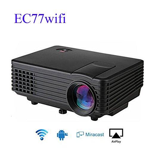 CROCON EC77 ANDROID & WIFI LED Projector Full HD multimedia Mini Portable Home Theater 1080P ATV beamer video portable
