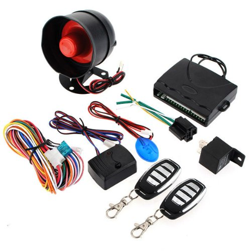 1-Way Car Vehicle Alarm Protection Security System Keyless Entry Siren +2 Remote