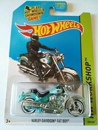 2014 Hot Wheels Hw Workshop 209/250 - Harley-Davidson Fat Boy