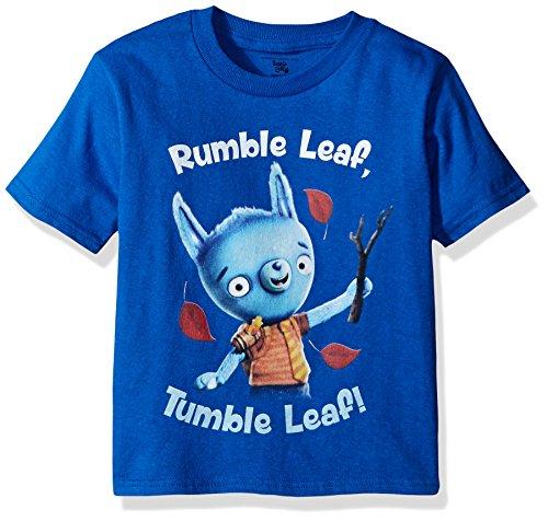 Amazon Original Series Boys' Toddler Boys' Tumble Leaf Short Sleeve Tee Shirt, Royal, 4T