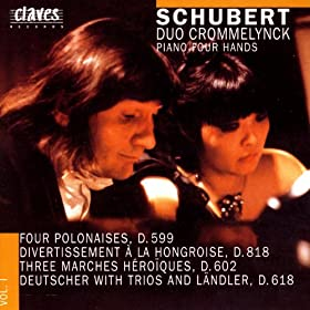 Schubert/ Works For Piano Four Hands Vol. 1