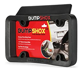 BumpShox 2.0 - Front Car Bumper Protection, Ultimate Front Bumper Guard. Front Bumper Protection License Plate Frame. Tougher Than Steel !