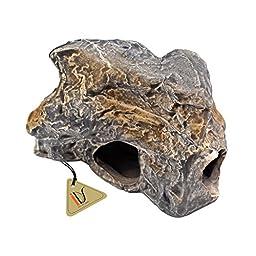 Fish Tank Cichlid Stones Ceramic Caves Aquarium Rock Decor for Shrimp Breeding - C