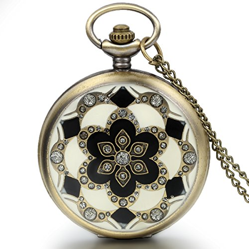 JewelryWe-Romantic-Gift-Peach-Blossom-Floral-Woman-Pocket-Watch-Pendant-Necklace-with-Chain-in-Gift-Bag