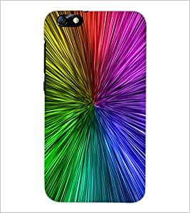 PrintDhaba Rainbow Colours D-2277 Back Case Cover for HUAWEI HONOR 4X (Multi-Coloured)