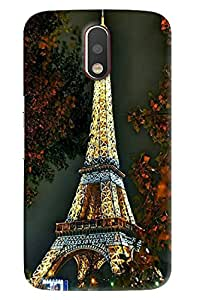 Blue Throat Eiffel Tower Of Paris Printed Designer Back Cover For Moto G4