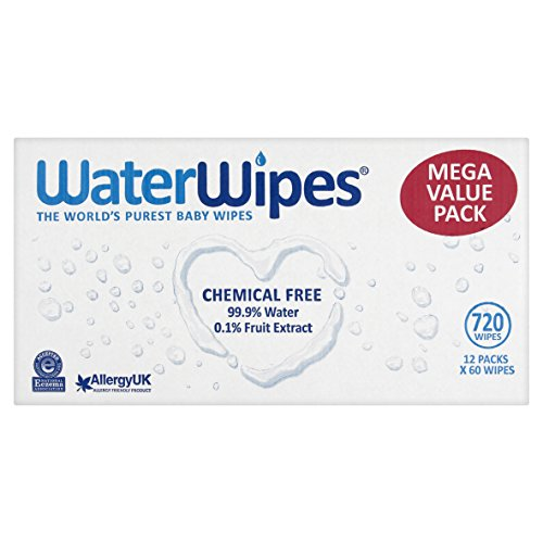 WaterWipes Super Value Box - Pack of 12, Total 720 Baby Wipes