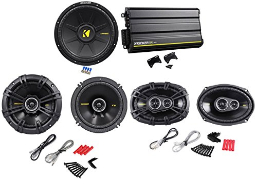 "Package: Kicker 12Cx6005 1200W 5-Channel Class Ab/D Car Audio Amplifier + Kicker 40Cs654 6.5"" 300W 4-Ohm 2-Way Car Speakers + Pair Of Kicker 40Cs6934 Cs693 6""X9"" 6X9 450W 4-Ohm 3-Way Car Speakers + Kicker 40Cws124 Comps 12"" 600W 4-Ohm Svc Car Subwoofer"