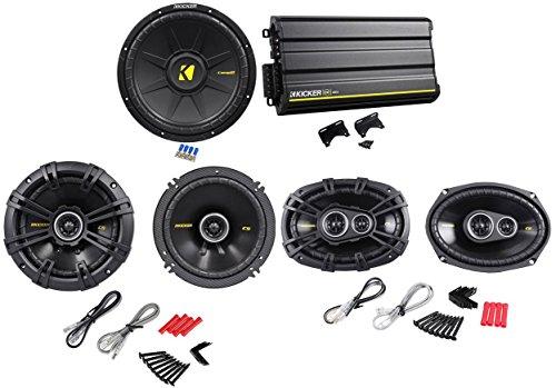 "Package: Kicker 12Cx6005 1200W 5-Channel Class Ab/D Car Audio Amplifier + Kicker 40Cs654 6.5"" 300W 4-Ohm 2-Way Car Speakers + Pair Of Kicker 40Cs6934 Cs693 6""X9"" 6X9 450W 4-Ohm 3-Way Car Speakers + Kicker 40Cws124 Comps 12"" 600W 4-Ohm Svc Car Subwoofer"