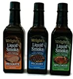 WRIGHT'S All Natural Liquid Smoke 3 PC Variety Pack - 3.5 Oz