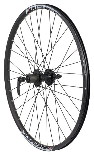 Avenir Joytec/Weinmann 36H QR Rear Wheel with XM-260 8/9 Speed Cassette Compatible Hub, Disc Brake Only (Black, 26-Inch x 26mm)