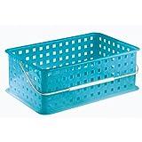 InterDesign Spa Basket, Medium, Azure