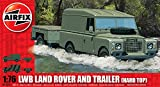 Airfix A02324 LWB Landrover (Hard Top) and GS Trailer 1:76 Scale Series 2 Plastic Model Kit