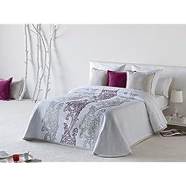 Textilhome Colcha Bouti KORSEON, Tamaño 135cm - Color Rosa