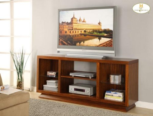 Cheap Crystal TV Stand in Natural Cherry Finish (B004RSVPS2)