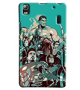Clarks All Super Heros Inspired Hard Plastic Printed Back Cover Case For Lenovo K3 Note