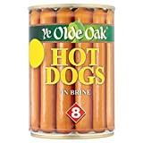 Ye Olde Oak 8 Hot Dogs in Brine 400g (Drained Weight 8 x 184g) (Pack of 6 x 400g)