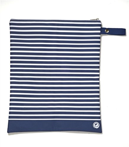 Lunchskins Wet and Sweat Bag (Navy Stripe)