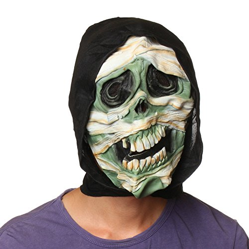 Halloween Zombie Skull Head Mask Costume Masquerade Latex Scary Prop