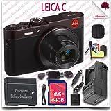 Leica C CMOS WiFi NFC Digital Camera (Red 18489) + 64GB SDHC Class 10 Card + HDMI Cable + Soft Camera Case + 12pc Leica Saver Bundle