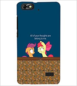 PrintDhaba Quote D-4633 Back Case Cover for HUAWEI HONOR 4C (Multi-Coloured)