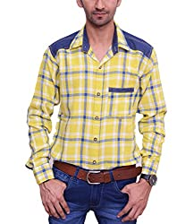 Ballard Men's Casual Shirt (BCS0002_Yellow_42)