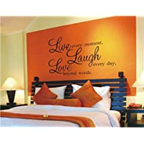 Tanboo ¡®Live Laugh Love¡¯ PVC Wall Decal Stickers (29.519.5cm) (Black)