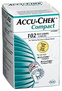 ACCU-CHEK Compact Test Strips, 102-Count Box