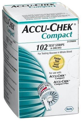 Imagen de ACCU-CHEK Compact tiras reactivas, 102-Conde Caja