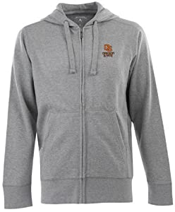 Oregon State Signature Full Zip Hooded Sweatshirt (Grey) by Antigua