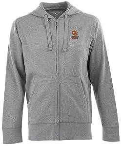 Oregon State Signature Full Zip Hooded Sweatshirt (Grey) by Antigua