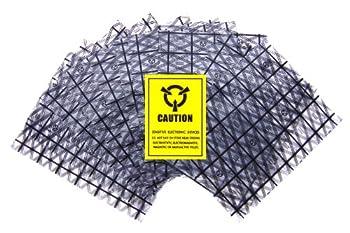 警告シール付属 静電気防止袋 帯電防止袋 150mm x 200mm (50枚)