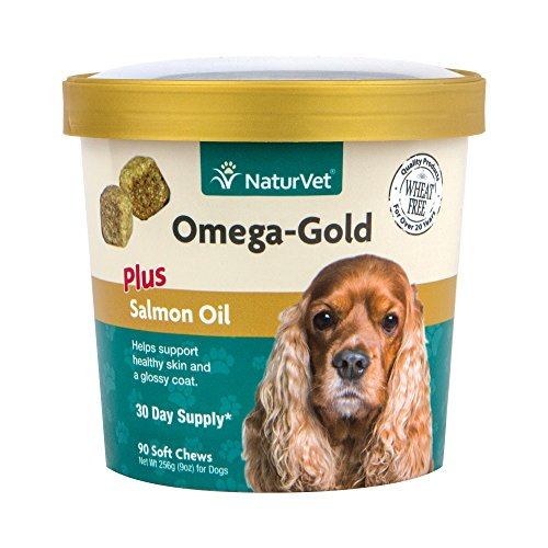 NaturVet Omega-Gold Plus Salmon Oil for Dogs, 90 ct Soft Chews, Made in USA (Omega 3 Chews For Dogs compare prices)