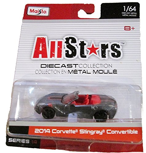 Maisto All-Stars Diecast Collection Series 14 - 2014 Corvette Stingray Convertible (grey)