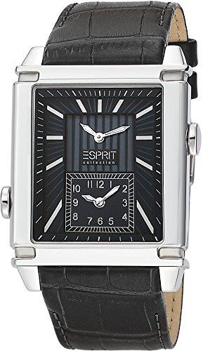 Esprit Collection para hombre-reloj analógico de cuarzo Pallas de cuero EL101361F01