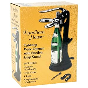 Wyndham House(TM) Tabletop Wine Opener with Suction Grip Stand