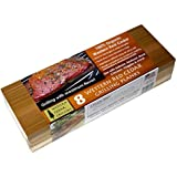 Western Cedar Grilling Planks (8 PACK!!) - Perfect for SALMON, FISH, STEAK, VEGGIES and more. MADE IN USA! Re-use several times. Superior water absorption compared to other planks