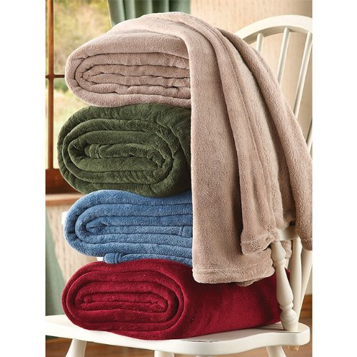 Best Prices! Luxuria Micro Plush Fleece Blanket - Assorted Colors (Sage, Queen)