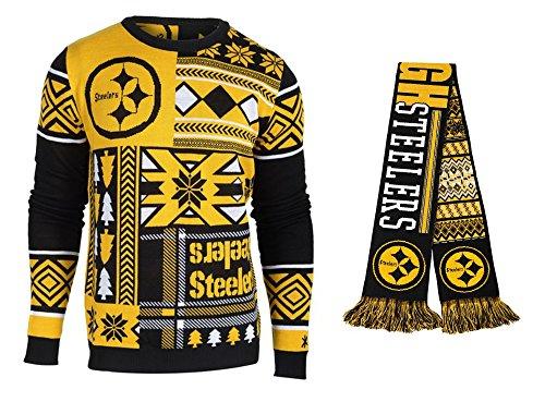 newest 55584 12ee7 Shop Pittsburgh Steelers NFL Football Reversible Ugly Scarf ...