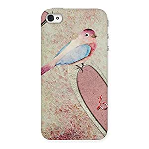 Love Bird Drawing Back Case Cover for iPhone 4 4s