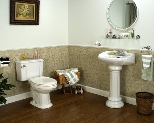 Barclay Vicki Elongated Front Toilet And 8 Inch Widespread Pedestal Sink  Matching Set