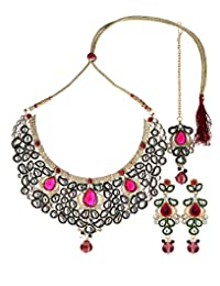 Ethnic Jewels Multicolor Alloy Jewellery Set For Women