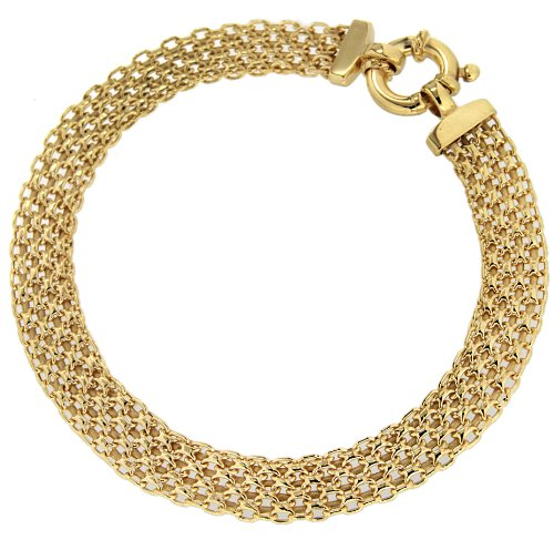 Carissima Gold Bismark 9 ct Yellow Gold Bracelet of 19 cm/7.5 inch