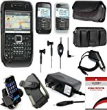 10 in 1 Accessories Bundle for Nokia E71 E71x AT&T Protector Case Skins Car Charger Holster Hands Free