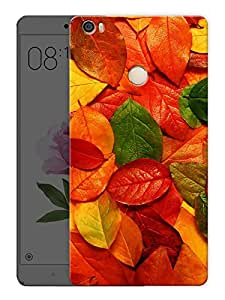 """Colorful LeavesPrinted Designer Mobile Back Cover For """"Xiaomi Redmi Max"""" (3D, Matte, Premium Quality Snap On Case)"""