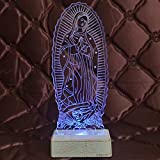 Giftgarden Blessed Virgin Mary Decor Figurine LED Ornament Christmas Lights