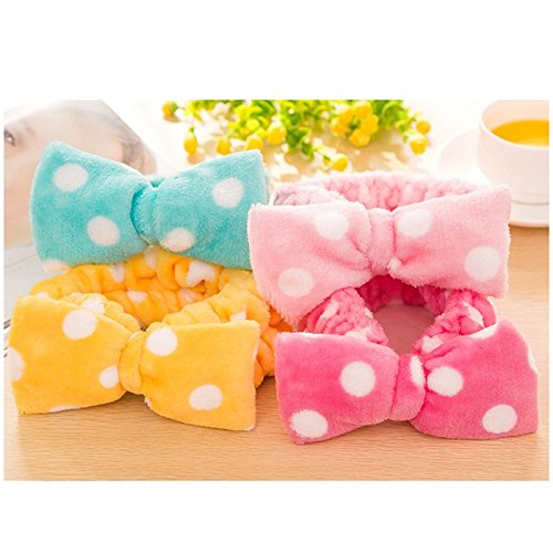 5pcs-new-multifunctional-flannelette-bows-elastic-headband-for-bath-shower-exercise-headwear-hair-ac