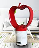 Aaron Bladeless Fan Apple Style with Remote Control Air multiplier (Red)